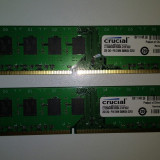 Ram 4 Gb DDR3 (2x2 gb kit) Crucial 1600 Mhz / PC3-12800U / Dual chanell (L6)