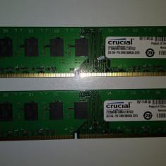 Ram 4 Gb DDR3 (2x2 gb kit) Crucial 1600 Mhz / PC3-12800U / Dual chanell (L6) - Memorie RAM Crucial, Dual channel
