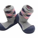 Attipas Argyle cu ciorăpel gros, bleumarin - Pantofi copii, Marime: 20, 21.5, 22.5, Unisex, Textil