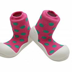 Attipas Polka Dot, roz - Pantofi copii Attipas, Marime: 19, 20, 21.5, 22.5, Fete, Textil