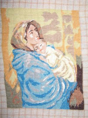 """Goblen """"Madonina"""" de Peruzzi, 130 x 160 puncte, 15 culori, nou. foto"""