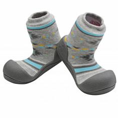 Attipas Nordic, gri - Pantofi copii Attipas, Marime: 19, 20, 21.5, 22.5, Unisex, Textil