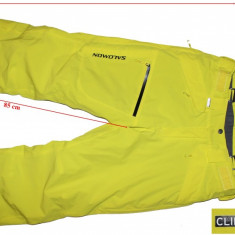 Pantaloni schi snowboard Salomon, ventilatii, Clima Pro Storm, barbati, L - Echipament ski