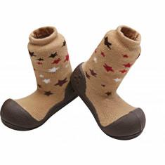 Attipas Twinkle cu ciorăpel gros, maro - Pantofi copii Attipas, Marime: 20, 21.5, 22.5, Unisex, Textil