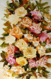 Pictura,tablou cu trandafiri,pictura originala ELENA BISSINGER 2017, 70x45cm#587, Flori, Ulei, Realism
