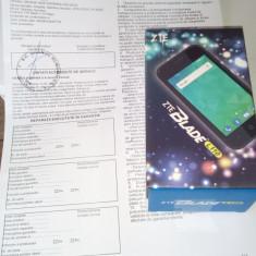 Telefon ZTE blade l110 - Telefon mobil ZTE, Negru, 4GB, Neblocat, Quad core, 512 MB