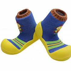 Attipas Robot, galbeni - Pantofi copii Attipas, Marime: 19, 20, 21.5, 22.5, Baieti, Textil