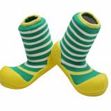 Attipas Ringle cu ciorăpel gros, galbeni - Pantofi copii, Culoare: Verde, Marime: 20, 21.5, 22.5, Unisex, Textil