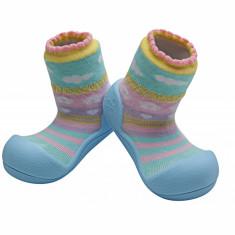 Attipas Attibebe, bleu - Pantofi copii Attipas, Marime: 19, 20, 21.5, 22.5, Fete, Textil