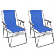 Set scaune pliabile de camping, Albastru - scaun camping