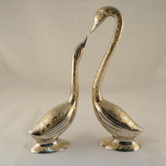 Set 2 flamingo argintat - mare - Cadou