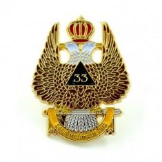 Pin masonic Grad 33