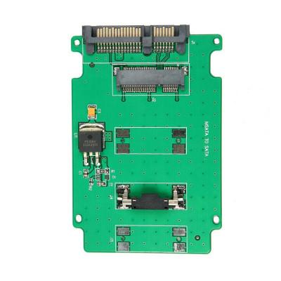 Adaptor (msata la sata) Mini PCI-E SSD mSATA la 2.5 inch SATA 22-Pin male foto