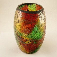 Vaza ovala sticla oglinzi - Vaza si suport flori