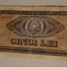 Bancnote vechi pt colectionari: 5, 10, 25 si 100 LEI din anul 1966 - Bancnota romaneasca