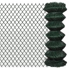 Gard lanț 1 x 15 m, Verde - Plasa gard