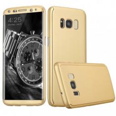 Husa 360 de grade full cover, fata, spate pentru Samsung Galaxy S8, G950 Gold