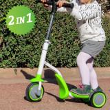 Trotinetă-Tricicletă Boost Scooter Junior 2 în 1 (3 roți)
