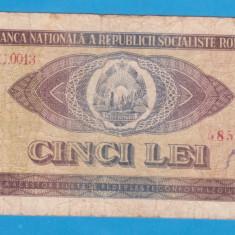 (1) BANCNOTA ROMANIA - 5 LEI 1966, REPUBLICA SOCIALISTA ROMANIA - Bancnota romaneasca