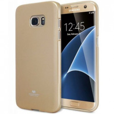 Husa protectie MERCURY GOOSPERY pentru Samsung Galaxy S7 Edge (G935), Silicon, Capac Spate, Aurie