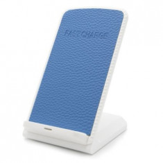 Incarcator Wireless IMPORTGSM, Fast Charge, QI, 2.0A, Incarcare MicroUSB, Albastru