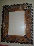 RAMA VECHE pt.tablou pictat/pictura,rama antica sculptata lemn,Transport GRATUIT, Nonfigurativ, Ulei, Altul