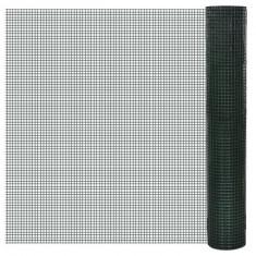 Plasă gard cu izolație PVC 1 m x 25 m ochi 16 x 16 mm