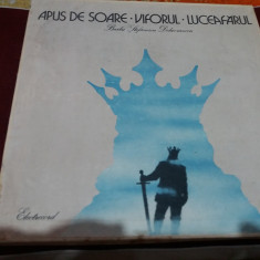 DISC VINIL BARBU STEFANESCU DELAVRANCEA APUS DE SOARE / VIFORUL 6 VINILURI - Muzica soundtrack