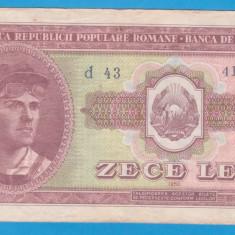 (1) BANCNOTA ROMANIA - 10 LEI 1952, REPUBLICA POPULARA ROMANA