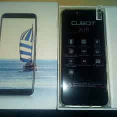 """Smartphone Cubot X18, 5.7""""IPS HD, Quad-Core 64bit, 3gb, 32gb, Cam 16mp, 4GLTE, Gen S8, Negru, Neblocat, Touchscreen"""