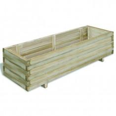 Ladă dreptunghiulară din lemn pentru răsaduri 120 x 40 x 30 cm - Ghiveci