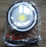Lampa portabilă cu Led 10W reincarcabila solar sau USB cu ventilator