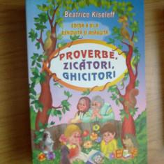 w4 Proverbe, zicatori, ghicitori - Beatrice Kiseleff