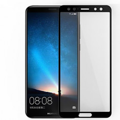 Geam HUAWEI Mate 10 Lite Tempered Glass Black - Folie de protectie Huawei, Lucioasa