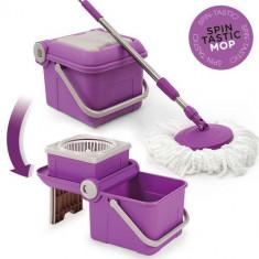 Mop Spin Tastic şi Găleată Pliabilă fără Pedală - Aparat de curatat cu abur