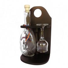 Minibar din lemn cu sticla si paharut CDT-40-OSH
