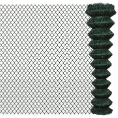 Gard lanț 2 x 15 m Verde - Plasa gard