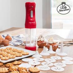 Aparat pentru Făcut Biscuiţi cu Accesorii Tasty American - Accesoriu electrocasnice bucatarie