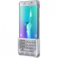 Husa protectie SAMSUNG pentru Galaxy S6 Edge Plus (G928), Silicon, Capac Spate, Tastatura QWERTY, Argintie - Baterie externa