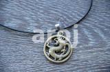 Pandantiv / Colier / Lantisor – Dragon – auriu