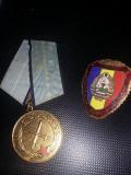 DECORATIE Medalie-Meritul Militar-R.p.r +insigna meritul militar,Transp GRATUIT