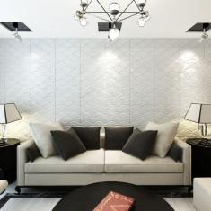 Panou decorativ 3D, model arc, 0, 5 m x 0, 5 m, 24 plăci de 6 m²