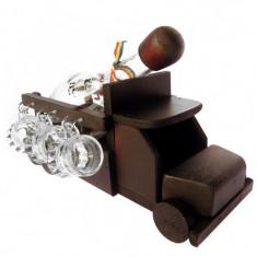 Minibar camion din lemn cu sticla si paharute CDT-14-OSH
