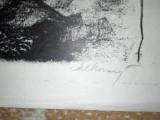 "MARCEL CHIRNOAGA- LITOGRAFIE  ""MINERII"", Abstract, Cerneala"