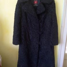 Palton karakul negru - Palton dama, Marime: 46