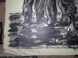 MARCEL CHIRNOAGA- LITOGRAFIE, Abstract, Cerneala