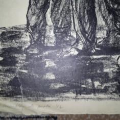 MARCEL CHIRNOAGA- LITOGRAFIE - Pictor roman, Abstract, Cerneala