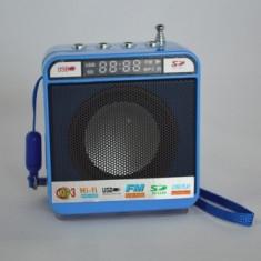 Mini radio portabil cu afisaj LCD Wster WS-918, Aux, USB, SD card