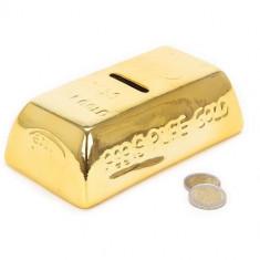 Cutie Bani Ceramică Lingou Auriu