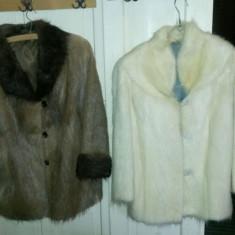 Doua haine blana naturala nutrie - haina de blana